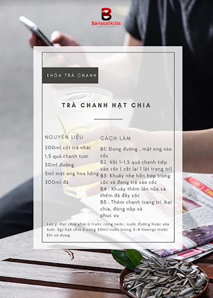 Công thức pha trà chanh hạt chia