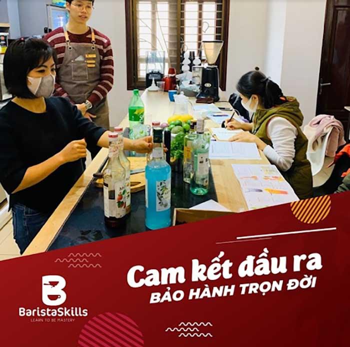 Lớp học pha chế tại Barista Skills