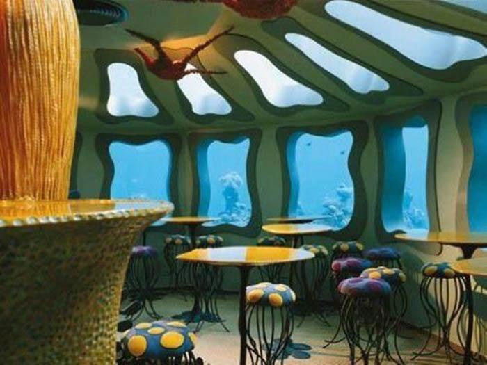 cafe dưới nước